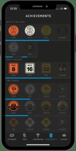 Onewheel app Achievement screen