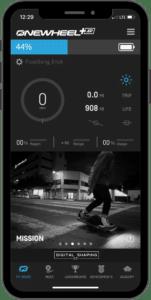 Onewheel app home screen